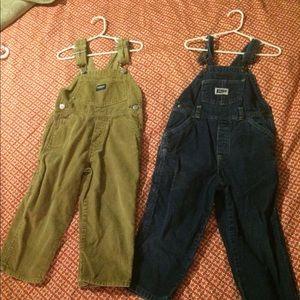 3T corduroy overalls lot